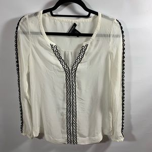 White House Black Market | Long Sleeve Blouse Sz 2